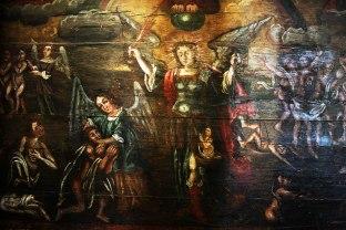 Gąsawa, fragment Sądu Ostatecznego, polichromia pod chórem na ścianie północnej, fot. Paweł Wroński