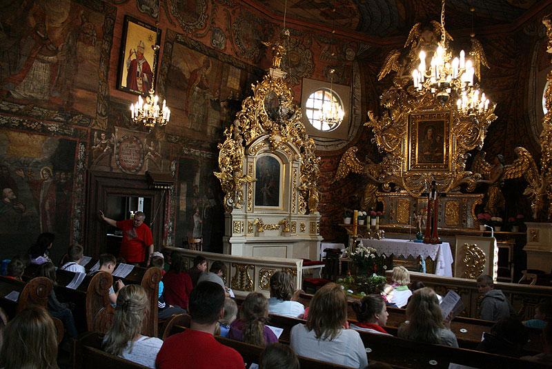 Gąsawa, prezbiterium kościoła św. Mikołaja z XVII w., fot. Paweł Wroński