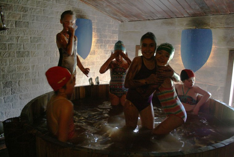 Kasztel w Uniejowie, kąpiel w czekoladzie, fot. Paweł Wroński