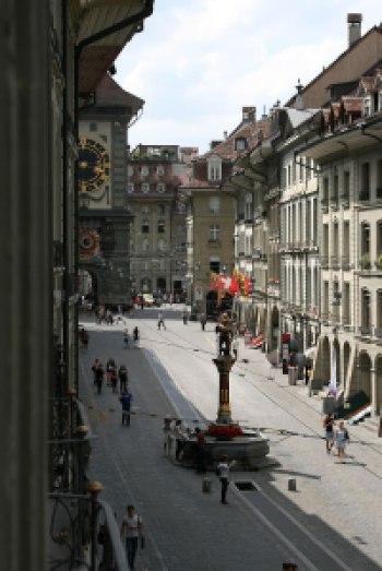 Widok z okna berneńskiego mieszkania Alberta Einsteina, fot. Paweł Wroński