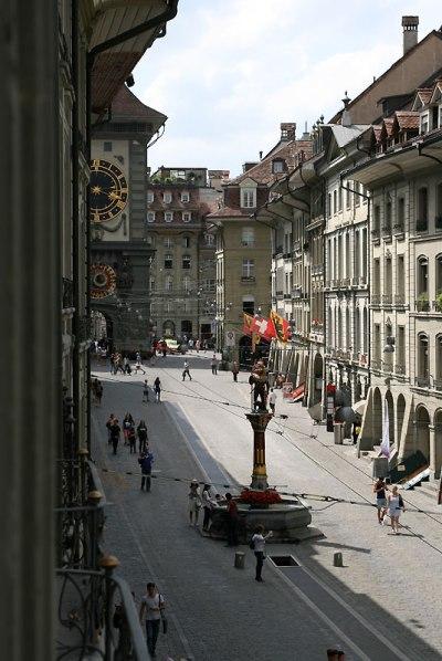Widok z okna bernenskiego mieszkania Alberta Einsteina, fot. Paweł Wroński