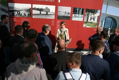 Ekspozycja poświęcona historii berlińskiego muru, fot. Paweł Wroński