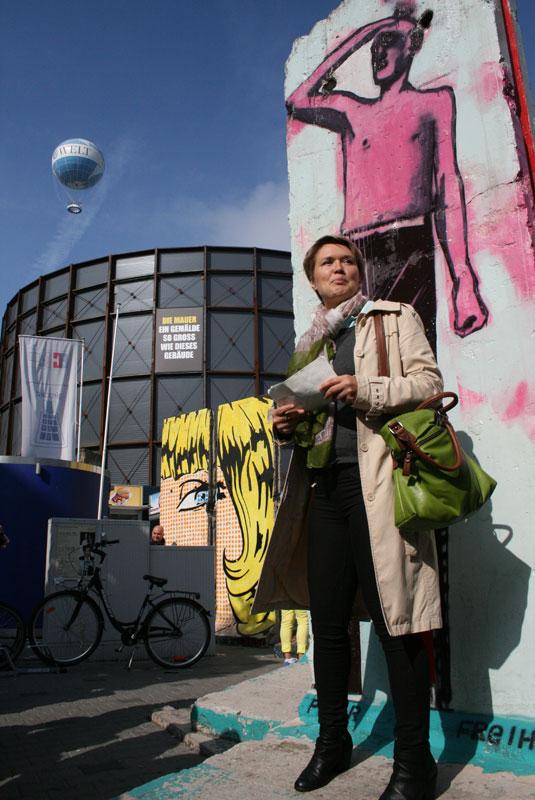 Ekspozycja poświęcona historii muru berlińskiego, fot. Paweł Wroński
