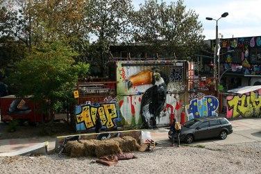 Berlin, graffiti przy Revaler Strasse, fot. Paweł Wroński