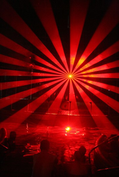 Poprad, Laser Show w AquaCity, fot. Paweł Wroński