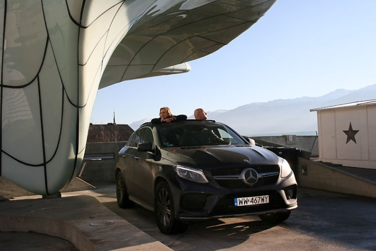 Mercedesem po Innsbrucku, fot. Paweł Wroński