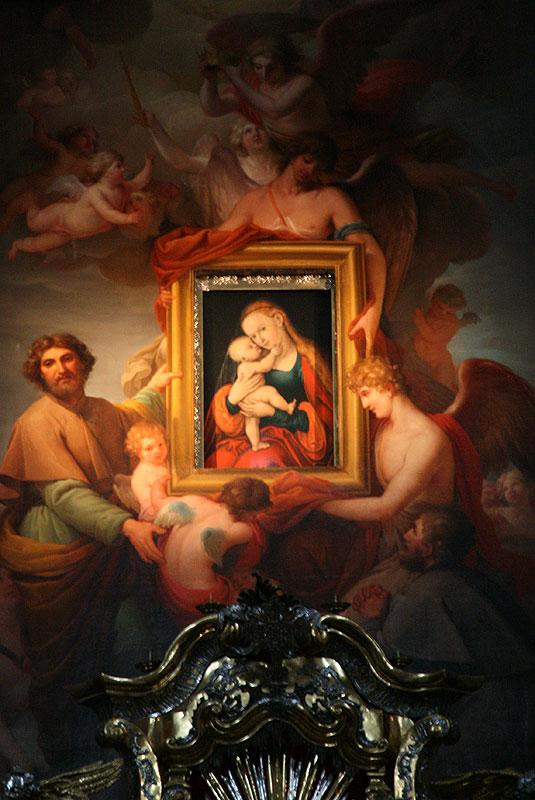 Gnadenbild Mariahilf, czyli cudowny obraz Matki Boskiej Pomocy z katedry w Innsbrucku, pędzla Łukasza Cranacha Starszego, fot. Paweł Wroński
