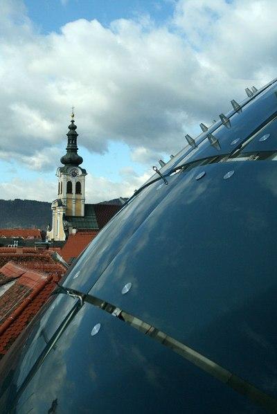 Kunsthaus i Altstadt w Grazu, fot. Paweł Wroński