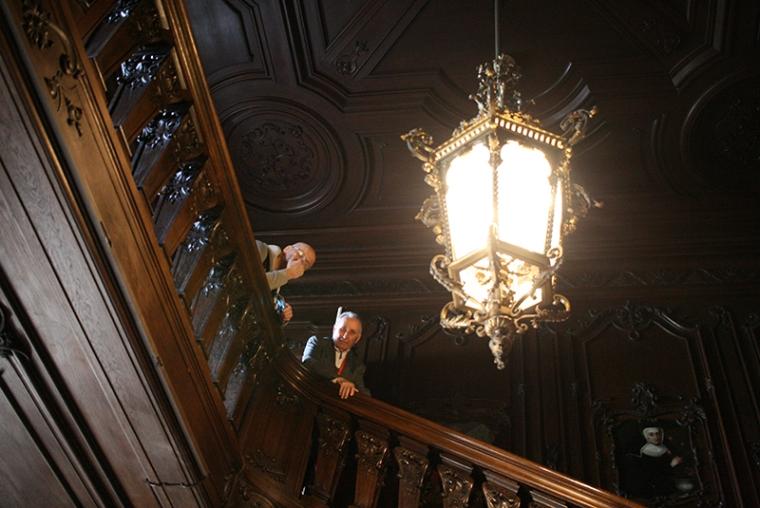 W pałacowych wnętrzach z dr. Lönhárdem, fot. Paweł Wroński