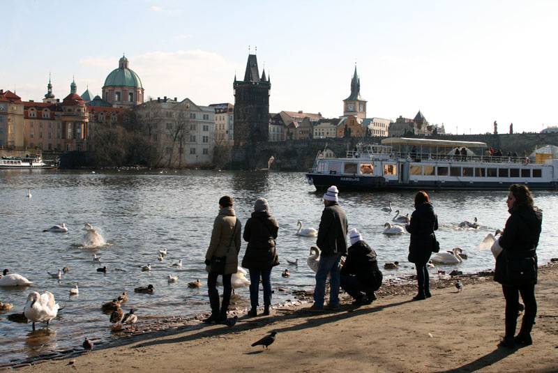 Widok na miasto z Kampy, wyspy na której wspierają się również filary Mostu Karola, fot. Paweł Wroński