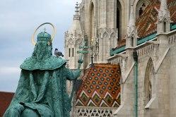 Święty Stefan, pomnik koło Kościoła Macieja w Budapeszcie, fot. Paweł Wroński
