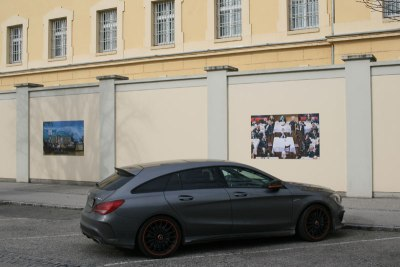 Mury więzienia w Krems zdobią karykatury, fot. Paweł Wroński