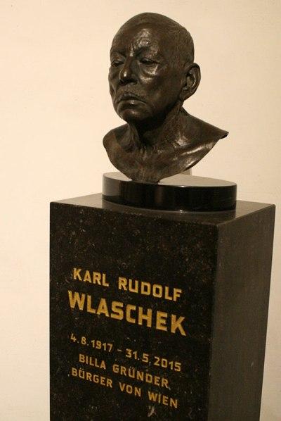 Karl Wlaschek - popiersie założyciela Billi w wiedeńskim Pałacu Kińskich, fot. Paweł Wroński