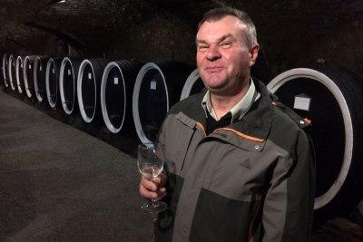 Ivan Marinclin, główny enolog z najstarszej, działającej w Kutjevie od 1232 roku, winiarni chorwackiej, fot. Paweł Wroński