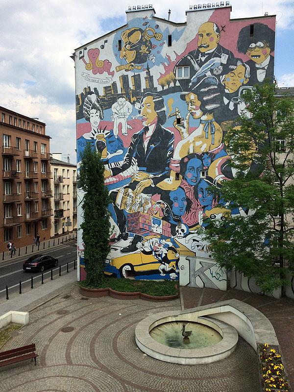 Poświęcone Chopinowi graffito na Tamce w Warszawie, fot. Paweł Wroński