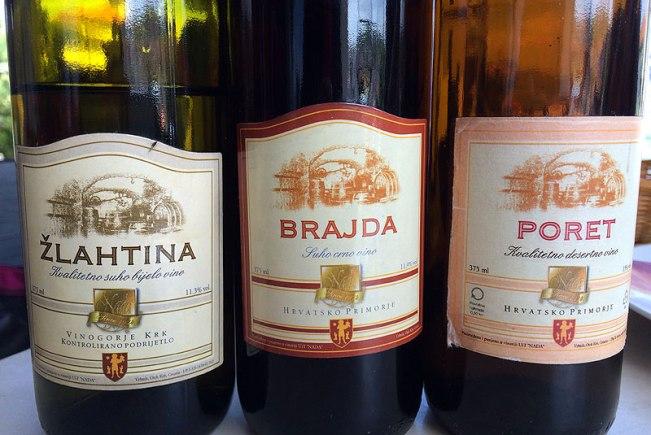Wina z winiarni Nada we Vrbniku, w tym Poret (dawniej znany jako Prošek), fot. Paweł Wroński