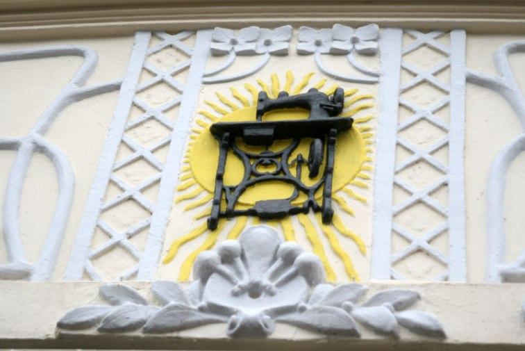 """Hotel """"Waldinger"""" w Osijeku, fragment dekoracji fasady, fot. Paweł Wroński"""