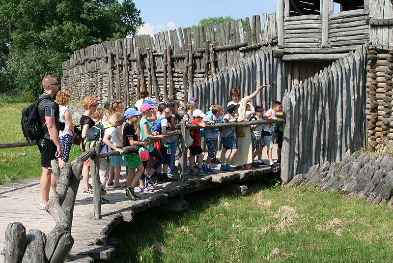 W Biskupinie najważniejsza jest zrekonstruowana osada z okresu kultury łużyckiej, a więc sprzed około 2700 lat. Fot. Paweł Wroński