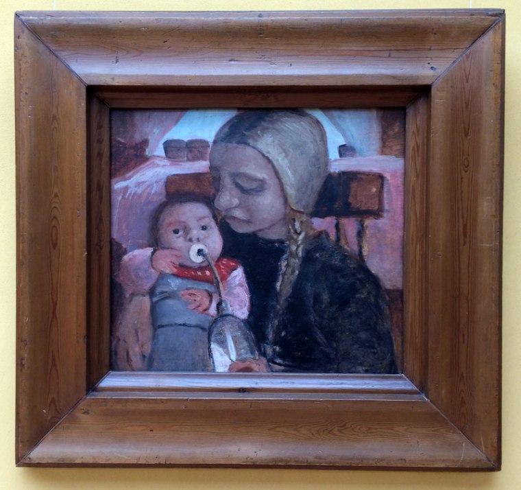 Jeden z obrazów pędzla Pauli Modersohn-Becker eksponowany w Große Kunstschau w Worpswede, fot. Paweł Wroński
