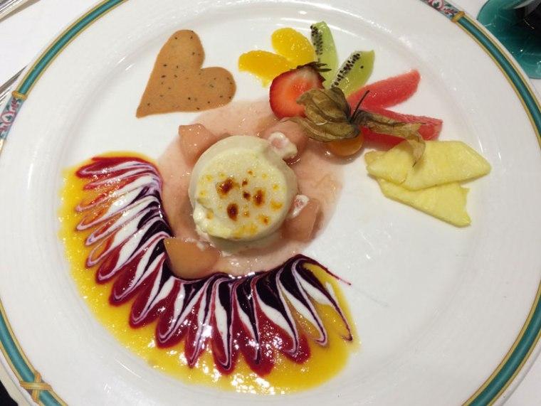 A wreszcie deser... bez owoców morza - das süße Finale (słodki finał ) - 7 EUR, fot. Paweł Wroński
