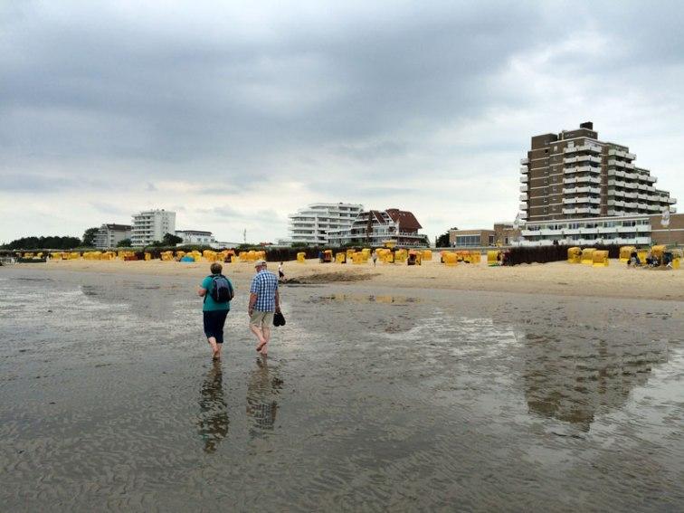 Plaże na wattach w Cuxhaven-Duhnen, uzdrowiskowej części miasta u ujścia Łaby, fot. Paweł Wroński