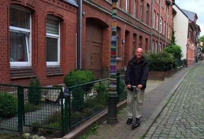 Z Paulem po Lüneburgu. fot. Paweł Wroński