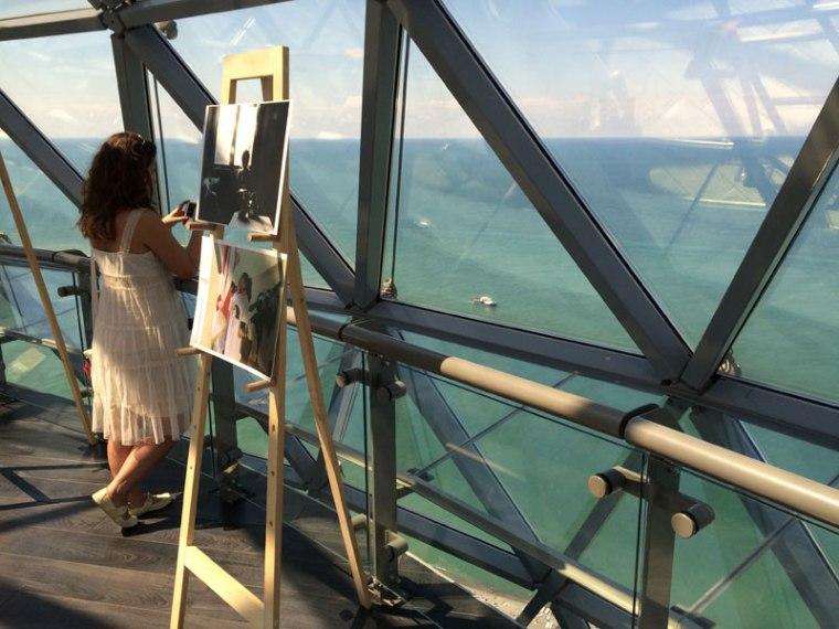 Widok na morze z Wieży Alfabetu, wzniesionej na zlecenie władz Batumi przez Alberto Domingo Cabo , fot. Paweł Wroński