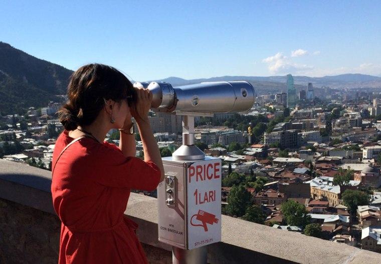 Biltmore Hotel Tbilisi jest najwyższym świeckim budynkiem w Tbilisi, fot. Paweł Wroński