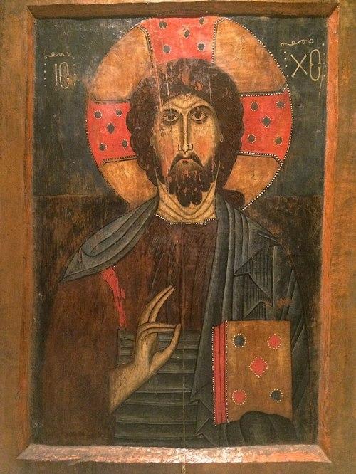XII-wieczna ikona Chrystusa Pantokratora, fot. Paweł Wroński