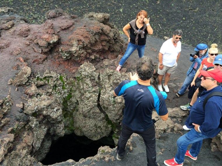 Lejkowate zakończenie nieczynnego już komina wulkanicznego, fot. Paweł Wroński