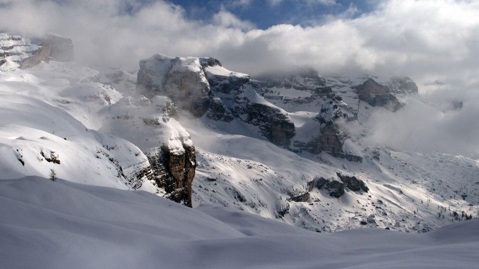 Dolomity Brenty widziane od strony madonna di Campiglio, w Val di Sole (Trentino), fot. Paweł Wroński