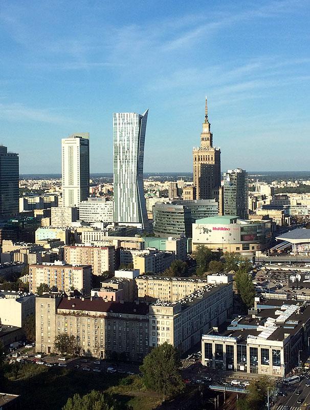 PKiN z 27. piętra Millenium Plaza, fot. Paweł Wroński