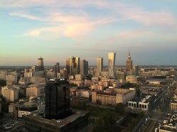 Widok na centrum Warszawy z 27. piętra Millenium Plaza, fot. Paweł Wroński
