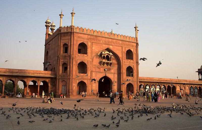 Dziedziniec Wielkiego Meczetu w Delhi, fot. Paweł Wroński
