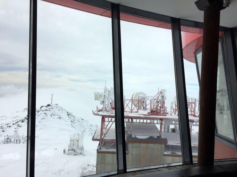 Za oknami Rotundy na Chopoku już prawdziwa zima, fot. Paweł Wroński
