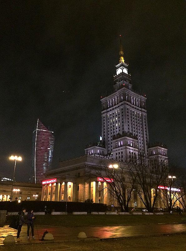 PKiN - od strony stacji metra Centrum. fot. Paweł Wroński