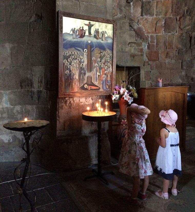 W cerkwi Dżwari - Krzyża Świętego w Mcchecie, fot. Paweł Wroński