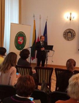Konferencję otworzył pan Šarūnas Adomavičius, Ambasadora Republiki Litewskiej w Polsce, fot. Paweł Wroński