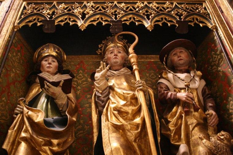Spiska Sobota, fragment jednego z ołtarzy w miejscowej farze, rzeźby są dziełem samego Mistrza Pawła z Lewoczy lub jego uczniów, fot. Paweł Wroński