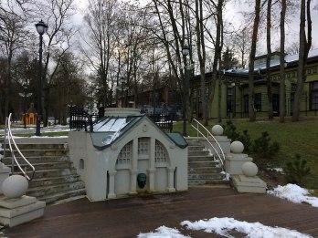 Birsztany (Birštonas) - ogród Kneippa w starej uzdrowiskowej części miasteczka, fot. Paweł Wroński
