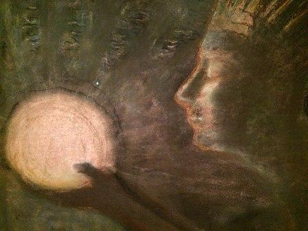 Fragment obrazu Bičiulystė - Przyjaźń, pędzla Čiurlionisa, fot. Paweł Wroński