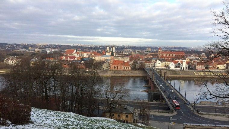 Widok na Stare Miasto w Kownie z tarasu Szkoły Muzycznej, fot. Paweł Wroński