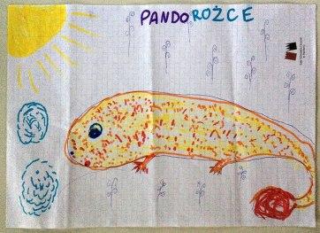 """Najmniej """"jaszczurowaty"""" z tetrapodów zaproponowanych przez dziewczęta, fot. Paweł Wroński"""