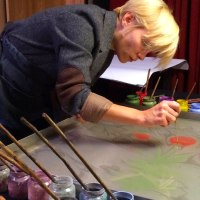Ebru - nawodzie malowanie