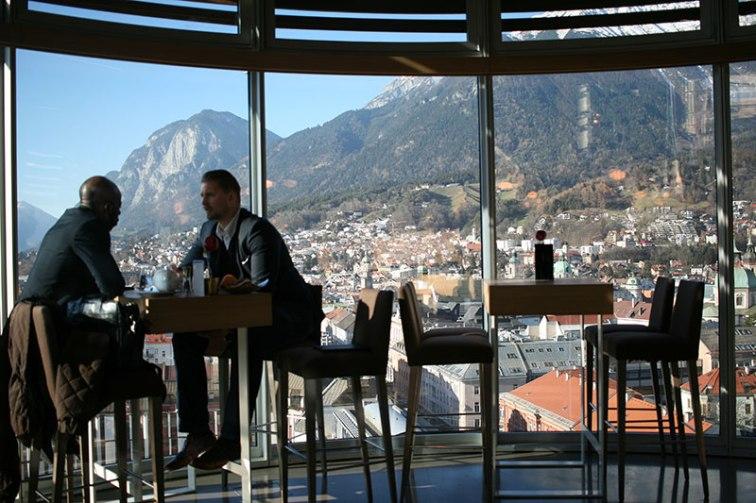 W restauracji designerskiego, businessowego hotelu Harry's Home w Innsbrucku, fot. Paweł Wroński