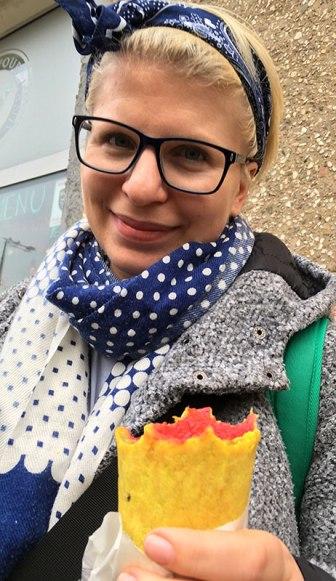 Krem z buraczków. Punkt sieci Soup Culture, otwarty w Warszawie przy Jana Pawła II 38 w dniu 10 marca 2018, fot. Paweł Wroński