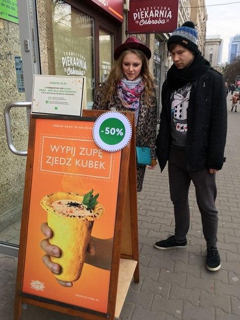 Punkt sieci Soup Culture, otwarty w Warszawie przy Jana Pawła II 38 w dniu 10 marca 2018, fot. Paweł Wroński