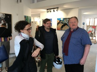 """Wystawa w Galerii Fundacji """"Skarbnica Sztuki"""": Fiszbach - Imponderabilia, fot. Paweł Wroński"""