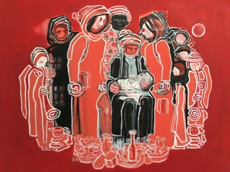 """""""Narodziny w Aleppo"""". Wystawa w Galerii Fundacji """"Skarbnica Sztuki"""": Fiszbach - Imponderabilia, fot. Paweł Wroński"""