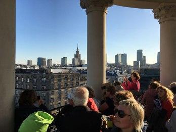 """Tak prezentuje się warszawski """"Manhattan"""" z widokowej glorietty Bristolu, fot. Paweł Wroński"""